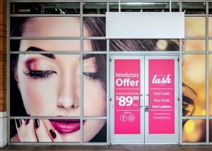 Window Graphics outdoor storefront window vinyl graphics custom 300x214